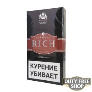 Пачка сигарет Aroma Rich Irish Coffee Superslims