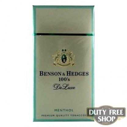 Пачка сигарет Benson & Hedges 100's Menthol DeLuxe USA