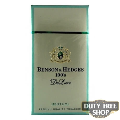 Пачка сигарет Benson & Hedges 100's Menthol DeLuxe USA