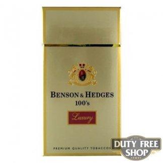 Пачка сигарет Benson & Hedges 100's Luxury USA