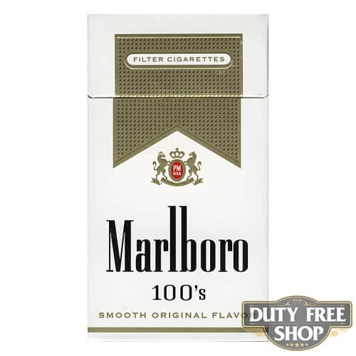 Пачка сигарет Marlboro Gold 100's USA (DUTY FREE)