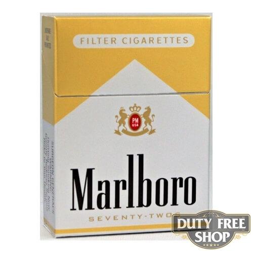 Пачка сигарет Marlboro Gold 72's USA