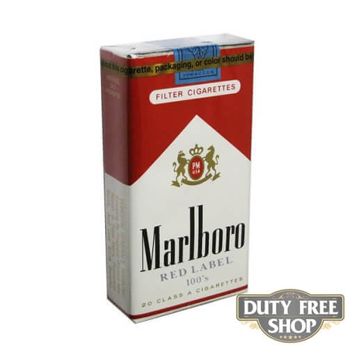 Пачка сигарет Marlboro Red Label (Medium) Soft 100's USA