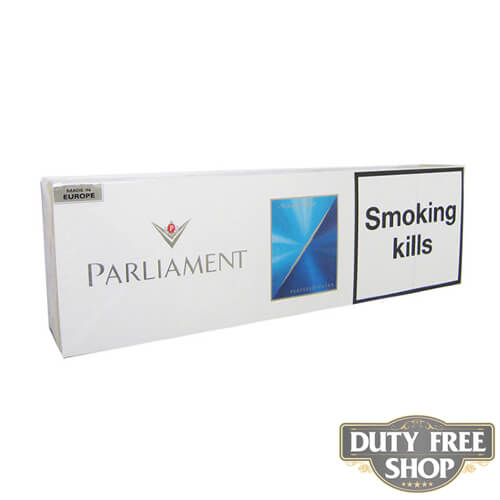 Блок сигарет Parliament Aqua Blue Duty Free