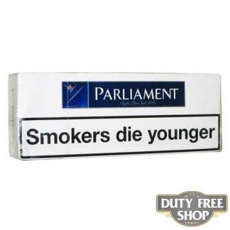 Блок сигарет Parliament Night Blue Soft 100's Duty Free