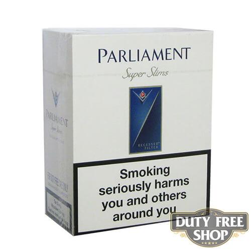 Блок сигарет Parliament SuperSlims Duty Free