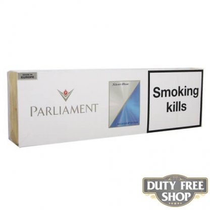Блок сигарет Parliament Silver Blue Duty Free