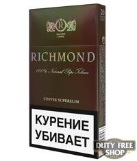 Пачка сигарет Richmond Bronze Edition (Coffee Superslim) (1 пачка) - старый дизайн