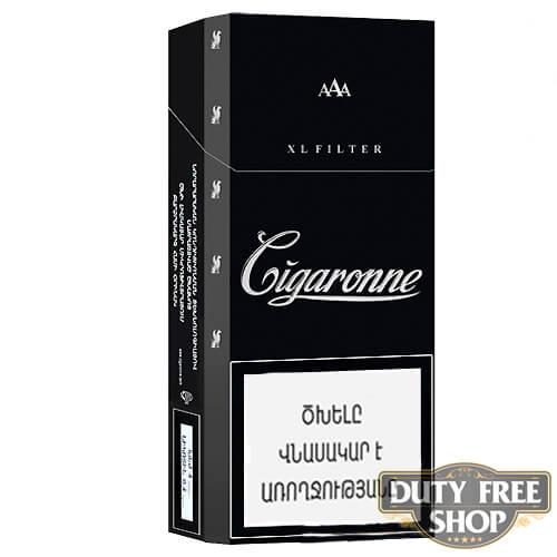 Пачка сигарет Cigaronne XL Filter Black 120mm