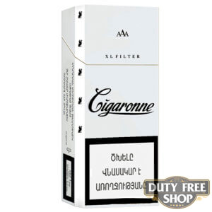 Пачка сигарет Cigaronne XL Filter White 120mm