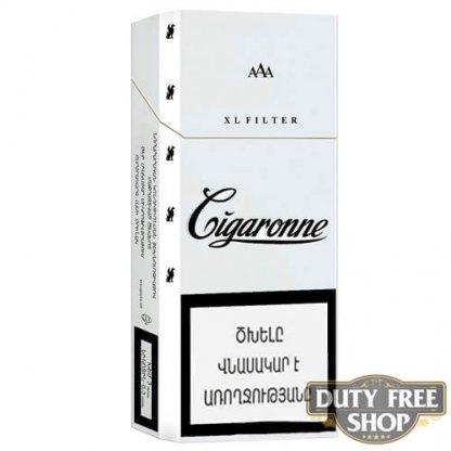 Пачка сигарет Cigaronne XL Filter White 120mm