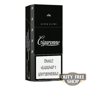 Пачка сигарет Cigaronne Super Slims Black
