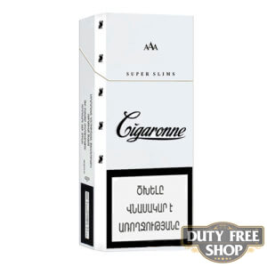 Пачка сигарет Cigaronne Super Slims White