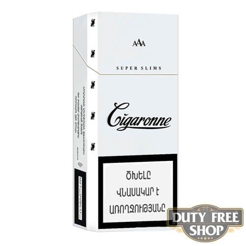 Пачка сигарет Cigaronne Super Slims White