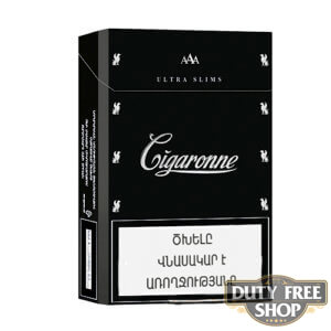 Пачка сигарет Cigaronne Ultra Slims Black