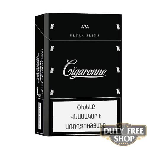 Пачка сигарет Cigaronne Ultra Slims Black