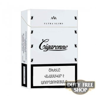 Пачка сигарет Cigaronne Ultra Slims White