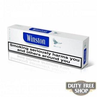 Блок сигарет Winston Blue Duty Free