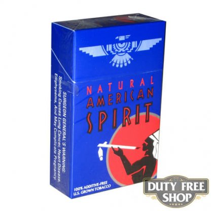 Пачка сигарет American Spirit Dark Blue USA