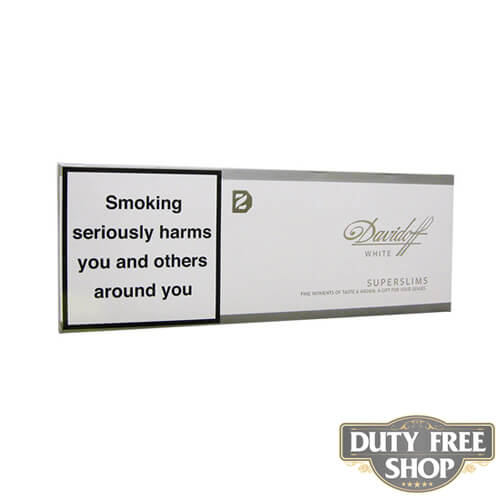 Блок сигарет Davidoff SuperSlims White Duty Free