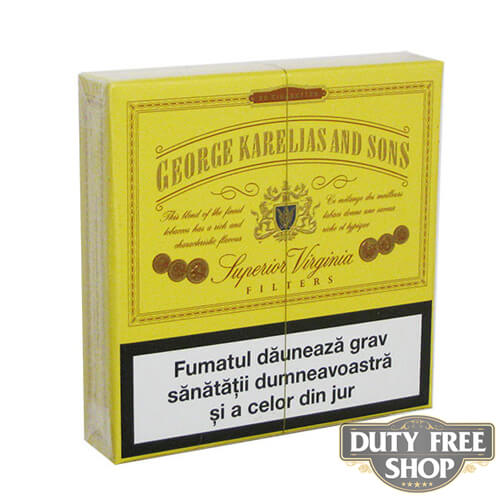 Пачка сигарет George Karelias and Sons Superior Virginia (1 пачка) Duty Free