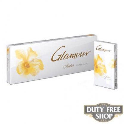 Блок сигарет Glamour SuperSlims Amber Duty Free