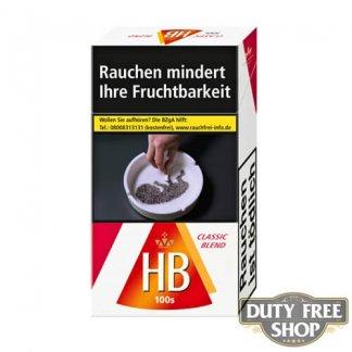 Пачка сигарет HB Classic Blend 100's Duty Free