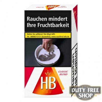 Пачка сигарет HB Classic Blend Duty Free