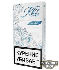 Пачка сигарет Kiss Menthol
