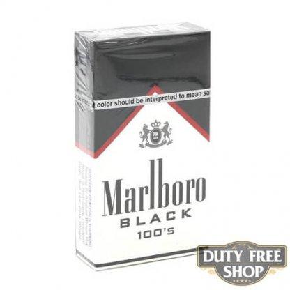 Пачка сигарет Marlboro Black 100's USA
