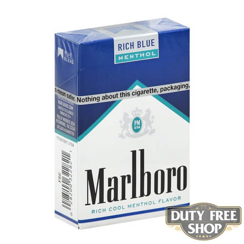 Пачка сигарет Marlboro Menthol Rich Blue USA