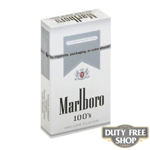 Пачка сигарет Marlboro Silver 100's USA (DUTY FREE)