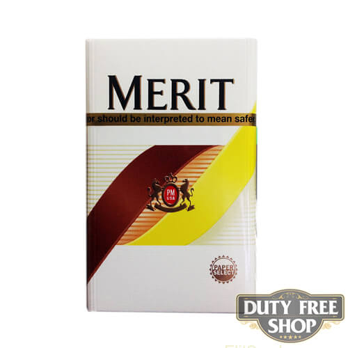 Пачка сигарет Merit Gold USA