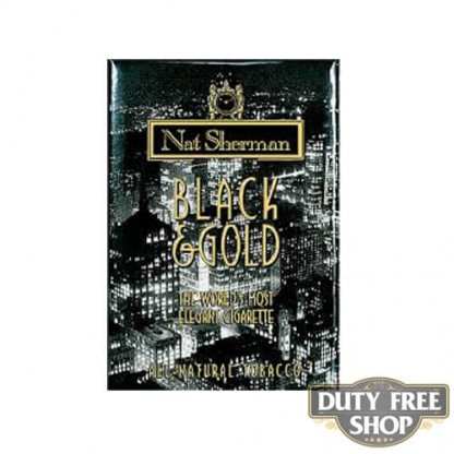 Пачка сигарет Nat Sherman Black & Gold USA
