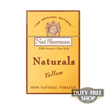 Пачка сигарет Nat Sherman Naturals Yellow USA
