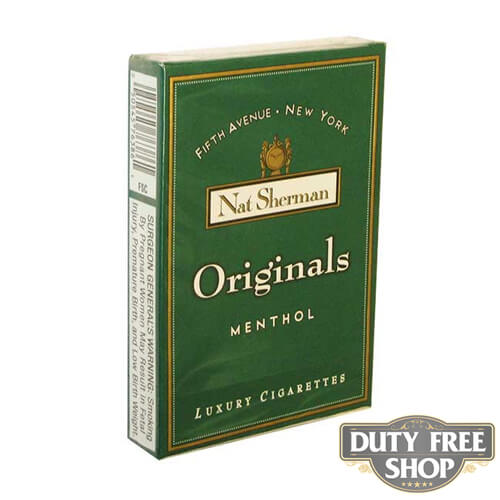Пачка сигарет Nat Sherman Originals Menthol USA
