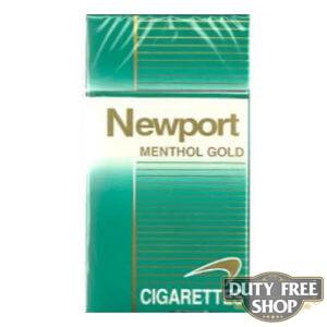 Пачка сигарет Newport Menthol Gold 100's USA
