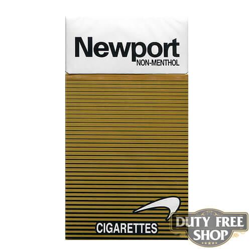 Пачка сигарет Newport Non-Menthol Gold 100's USA