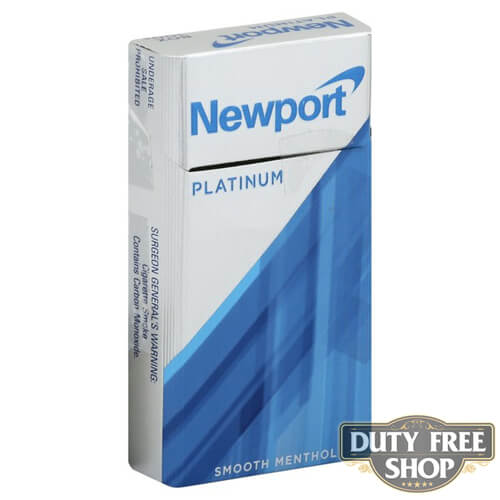 Пачка сигарет Newport Platinum Silver 100s USA