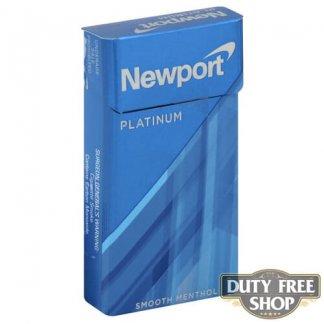 Пачка сигарет Newport Platinum Blue 100s USA