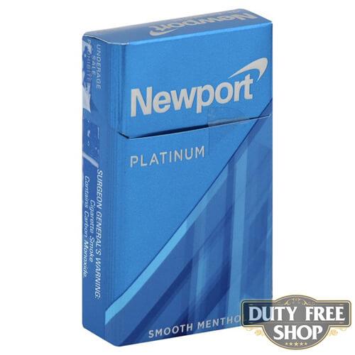 Пачка сигарет Newport Platinum Blue USA