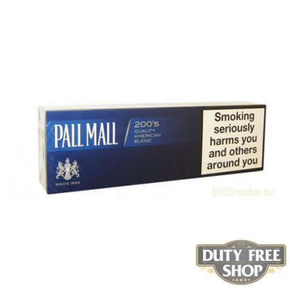 Блок сигарет Pall Mall Blue Duty Free
