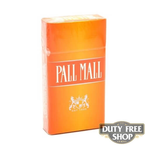 Пачка сигарет Pall Mall Orange 100's USA