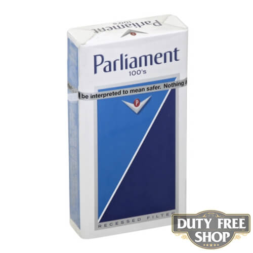Пачка сигарет Parliament Lights 100's USA (DUTY FREE)