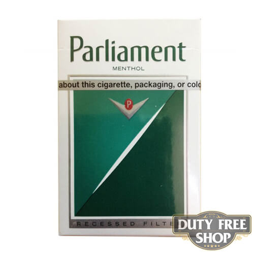Пачка сигарет Parlament Menthol Lights USA