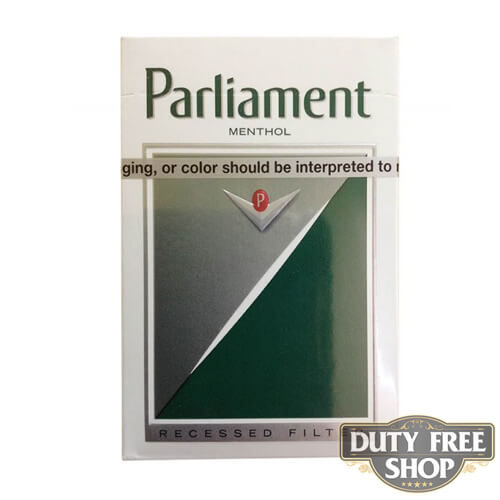 Пачка сигарет Parlament Menthol Silver USA