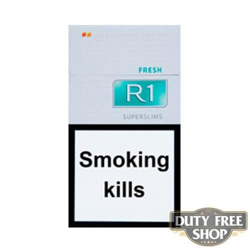 Пачка сигарет R1 SuperSlims Fresh Duty Free