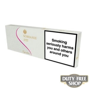 Блок сигарет Sobranie Superslims White Duty Free