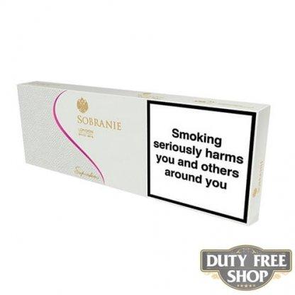 Блок сигарет Sobranie Superslims White Duty Free