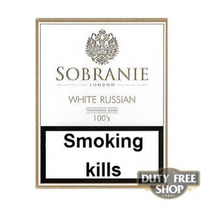 Пачка сигарет Sobranie White Russian 100's Duty Free